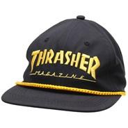 Logo Rope Snapback Cap - Black/Yellow