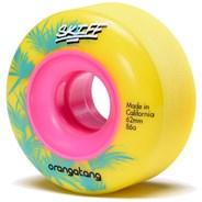 Skiff Slasher 62mm Longboard Wheels - 86a Yellow