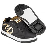 Propel 2.0 Black Ballistic/Gold Chrome Kids Heely Shoe