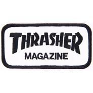 Magazine Logo Patch - White/Black