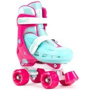 Hurricane II Pink/Blue Quad Roller Skates