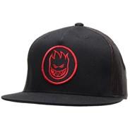 Swirl Trucker Cap - Black/Red