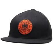 Fire Snapback Cap - Black/Red