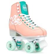 Script Quad Roller Skates - Peach/Green