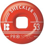 Sheckler Pro Spec Skateboard Wheels - Red 53mm