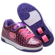 Dual Up Purple/Rainbow/Smile Kids Heely X2 Shoe