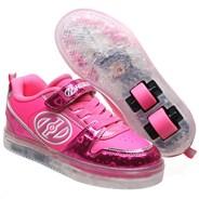 Boom Fuchsia/Pink/Silver/Hearts Kids Heely X2 Shoe