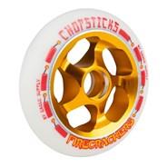 Firecrackers Aluminium Hub Scooter Wheel - White/Gold