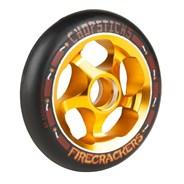 Firecrackers Aluminium Hub Scooter Wheel - Black/Gold