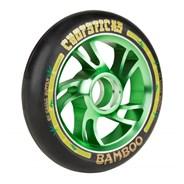 Bamboo Aluminium Hub Scooter Wheel - Black/Green