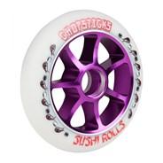 Sushi Rolls Aluminium Hub Scooter Wheel - White/Purple