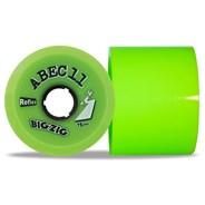Reflex BigZigs 75mm/80A Longboard Wheels - Lime