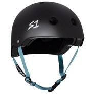 Lifer LIT Helmet - Black Matt with Blue Strap