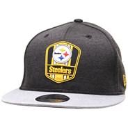 NFL Sideline 2018 Road 9FIFTY Snapback - Pittsburgh Steelers