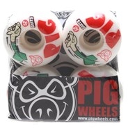 Pig Darts 52mm Skateboard Wheels - White