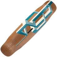 Basalt Tesseract Longboard Deck - Dark Blue