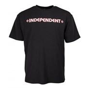 Bar Cross S/S T-Shirt - Black