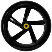 200mm Scooter Wheel and Bearings - Black