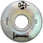 Luminous 62mm 85a Roller Skate Wheel - White Glitter