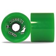 Classic BigZigs 75mm/81A Longboard Wheels - Green