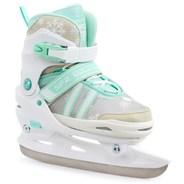 Nova Adjustable Hockey Ice Skates - White/Teal