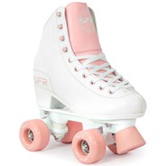Figure Quad Roller Skates - White/Pink