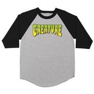 Logo 3/4 Raglan Sleeve T-Shirt - Athletic Heather/Black
