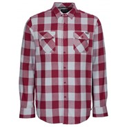 Derby Port/Grey Check L/S Flannel Shirt