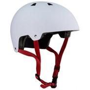 ABS Helmet - White Red Straps