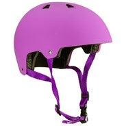 ABS Helmet - Pink with Purple Straps