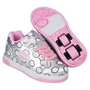 Dual Up Silver Glitter/Light Pink/Paws Kids Heely X2 Shoe