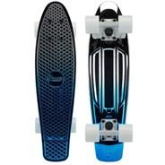 Complete 22inch OG Plastic Skateboard - Blue Silver Metallic Fade