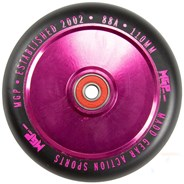 MFX Corrupt Hollowcore 110mm Scooter Wheels (Pair) - Pink/Black