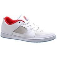 Accel Slim White/White/Blue Shoe