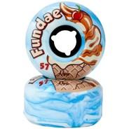Fundae 57mm/92a Roller Skate Wheels - Birthday Cake
