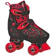 Trac Star V2 Black/Red Quad Roller Skates