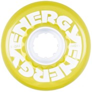 Energy 62 - 62mm/78a Roller Skate Wheels - Clear Yellow