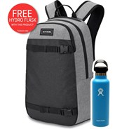 URBN Mission 22L Backpack - Greyscale  + FREE DAKINE HYDRO FLASK