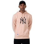 MLB Seasonal Team Logo Pullover Hoody - New York Yankees - Dusty Rose