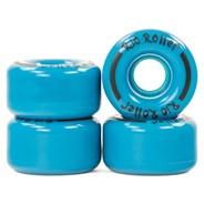 Coaster Stripe Quad Roller Skate Wheels - Blue