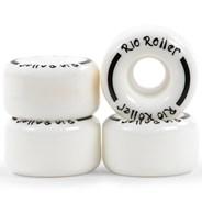Coaster Stripe Quad Roller Skate Wheels - White