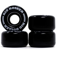 Coaster Stripe Quad Roller Skate Wheels - Black