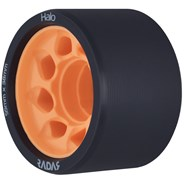 Halo 59mm/86a Roller Derby Skate Wheels - Charcoal/Orange