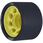 Halo 59mm/91a Roller Derby Skate Wheels - Charcoal/Yellow