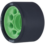 Halo 59mm/97a Roller Derby Skate Wheels - Charcoal/Green