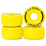 Coaster Stripe Quad Roller Skate Wheels - Yellow