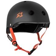 Lifer Helmet - Black Matt with Orange Strap