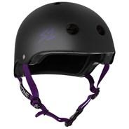 Lifer Helmet - Black Matt with Purple Strap