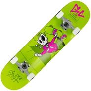 Skully Green 7.25inch Mini Complete Skateboard
