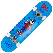 Skully Blue 7.25inch Mini Complete Skateboard
